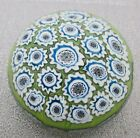 VTG LARGE MURANO MILLEFIORI CUT CANE MOSAIC FLOWERS ART GLASS PAPERWEIGHT SEGUSO