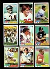 1981 TOPPS FOOTBALL NEAR COMPLETE SET 527 528 MINT MISSING MONTANA RC *INV1385