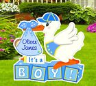 Custom Its a Boy Lawn Stork Sign Announcement Outdoor Baby Birth Yard Decor