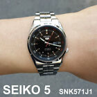 SEIKO5 SNK571J1 Automatic 37mm Stainless Steel Mens Watch MADE IN JAPAN