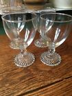 Anchor Hocking BUBBLE FOOT Water Goblets Set of 4-Clear Glass Goblet Glasses