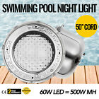 Swimming Pool Light 60W LED 500W MH 50 Cord Lamp IP68 Fixture Park PC Cover