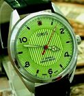 Vintage Oris Hand Winding Gorgeous Green Dial Mens Watch Perfect Condition.
