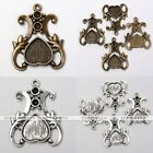 10x Tibetan Silver Crown Love Heart Photo Picture Frame Charms Pendant Findings