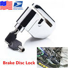 Universal Stainless Steel Motorcycle Wheel Disc Lock Alarm Security Brake Disk