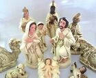 VTG SET 11 LARGE JAPAN COMPOSITION PAPER MACHE NATIVITY FIGURES WHITE