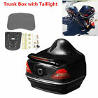 1Pcs Universal Motorcycle Trunk Box with Taillight Brake Turn Signal Light -USA