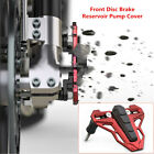 8MM Motorcycle CNC Alloy Front Disc Brake Reservoir Pump Cover Red+Black Durable