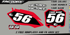 Honda CRF 50F 04-12  Pre Printed Number plate Backgrounds BASIC SERIES