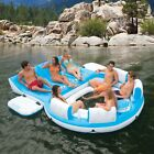 Large 6 Person Inflatable Floating Island Lounge Raft Oasis Lake Boat River Pool