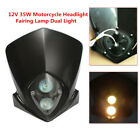12V Motorcycle Dirt Bike Headlight Fairing Lamp Dual Light Driving Lamp  Amber