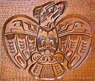 Nootka Hand Carved Thunder Bird By Native Artist Jim Jules Wood Plaque