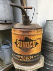 Vintage 5 gallon Sunoco Oil Gasoline Can Wooden Handle