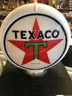 Gas pump globe TEXACO reproduction 2 GLASS LENS
