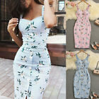 Summer Women's Slim Boho Maxi Dress Evening Party Beach Bodycon Dresses Sundress