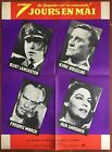 Poster Seven JOURS in May day KIRK DOUGLAS Burt Lancaster 23 5 8x31 1 2in