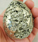 A Crystal Filled Piece of PYRITE Made Into a BIG Oval or Egg Shape Peru 490gr e