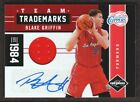 2011-12 Limited Team Trademarks Jersey Auto #15 Blake Griffin 10 25 LA Clippers