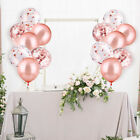 48PC Rose Gold Confetti Balloon Set for Party Wedding Baby Shower 12 inch OW