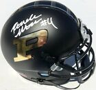 RONDALE MOORE #4 SIGNED PURDUE BOILERMAKERS CHROME FOOTBALL MINI HELMET PSA DNA