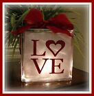 Love Decal sticker Christmas Valentine for DIY 8 glass block shadow box