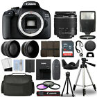 Canon EOS 2000D Rebel T7 SLR Camera + 3 Lens Kit 18 55mm + 16GB + Flash