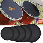 10Pcs Rubber Foam Silencer Practice Pad For Bass Snare Drum Sound Off Quiet Mute