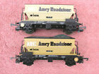 LIMA 305636 TWO ARC AMEY ROADSTONE 50 TON PGA HOPPER WAGONS NEED LIGHT TLC