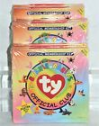 Lot of 8 TY Beanie Babies 1st Edition Official Membership Kits Club w/Posters