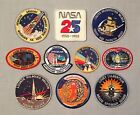 NASA PATCHES LOT of 10 Space Program  Shuttle STS Mission Spacelab Radar Lab ++