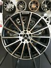 18x85 Black S63 AMG Style Rims Wheels Fits Mercedes Benz C250 C350 C300