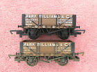 HORNBY R6112  R6219 TWO MARK WILLIAMS  Co 4 PLANK OPEN WAGONS MINT COND
