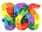 Snake Alphabet  Numbers Puzzle in Multicolor