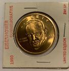 1990 Eisenhower 24K GP Gold Commemorative Coin MINT