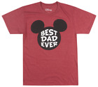 DISNEY MICKEY MOUSE BEST DAD EVER T SHIRT MENS DISNEYLAND FATHERS DAY TEE
