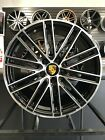 Set of 20 Staggered GTS Style Black Wheels Fits Porsche Panamera 911 997 991