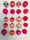 20pc Vintage Fancy Glass Christmas Tree Ornaments Jeweltones Shiny Brite Meduim