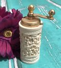 Vintage Asian Theme Detail Small Faux French Ivory Perfex Pepper Grinder Mill