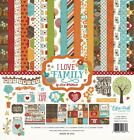 Echo Park I Love Family 12x12 Scrapbook Kit Papers + Stickers Reunion