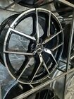 20 Black Staggered Y AMG Style Rims Wheels Fits Mercedes Benz S Class W221