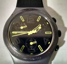2010 Swatch  Irony Swiss Chronograph Ray OF Light Black  No Box/Instructions