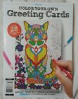 Blissful Color Your Own Greeting Post Cards 28 Birthday Thank You + NEW Magazine