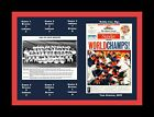 ATLANTA BRAVES 1995 WORLD SERIES CHAMP MATTED COLLAGE OF TEAM PIC NEWSPAPER PAGE