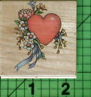 Heart  Flowers rubber stamp by All Night Media