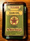 Reproduction Vintage TEXACO GUN OIL Advertising Clear Glass Paperweight