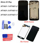 LCD Display Touch Screen Digitizer Frame Replace Fr Motorola Moto E5 Play XT1921