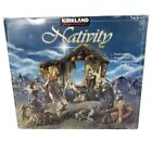 Kirkland Hand Painted Antique Style 10 Figures 19 Pc NATIVITY Set in Box 989999
