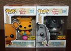 Funko Pop! Disney: WINNIE FLOCKED & EEYORE DIAMOND Hot Topic Exclusives - NM!