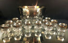 DOROTHY THORPE--PUNCH BOWL AND CUPS---MINT---MID-CENTURY--BUY IT NOW!