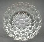 Vintage Clear Bubble Glass Bowl With Scalloped  Rim - Set of Three